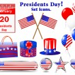 Icons for of the Presidents day. — Stock Vector