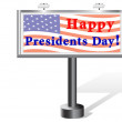Presidents day. Billboard. — Stock Vector