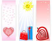 Conjunto de bandeiras. — Vetorial Stock
