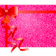Red gift bow with ribbons. — Stock Vector