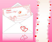 Envelope with Greeting card. — Vector de stock