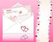 Envolvente con tarjeta de felicitación. — Vector de stock