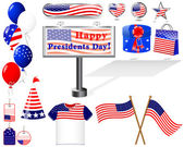 Icons for of the Presidents day. — Stock vektor