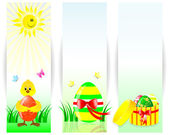 Set of easter vertical banners. — Stock Vector