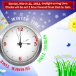 Vecteur: Daylight saving time begins.