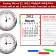 Royalty-Free Stock Imagen vectorial: Daylight saving time begins.