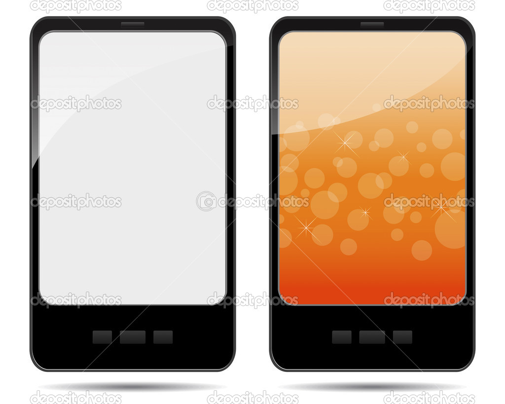 Two tablet pc with abstract background and blank. EPS 10. Vector illustration.  Stock Vector #9229852