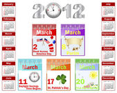 Calendar for 2012. — Vetorial Stock