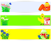 Set of easter horizontal banners. — Stock Vector