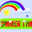 Summer time a label. — Stock Vector