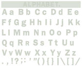 English alphabet. — Stock Vector