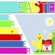 Easter booklet with yellow ribbon and bow. — Vettoriali Stock
