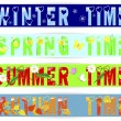 Four seasons-banners. — Stock Vector