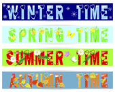 Four seasons-banners. — Stockvector