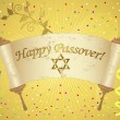 Holiday background of jewish passover. — Stockvektor
