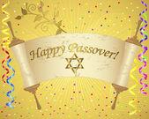праздник фон еврейской пасхи. — Cтоковый вектор