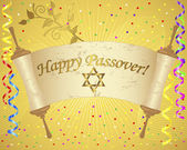 Holiday background of jewish passover. — Stock vektor