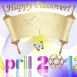 Holiday background of jewish passover. - Stok Vektör