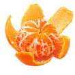Ripe tangerine peel with purified — 图库照片