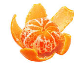Ripe tangerine peel with purified — Foto Stock