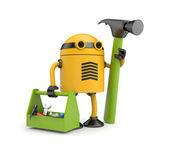 Robot pracownik — Zdjęcie stockowe