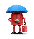 Lekarz robota z parasolem — Zdjęcie stockowe
