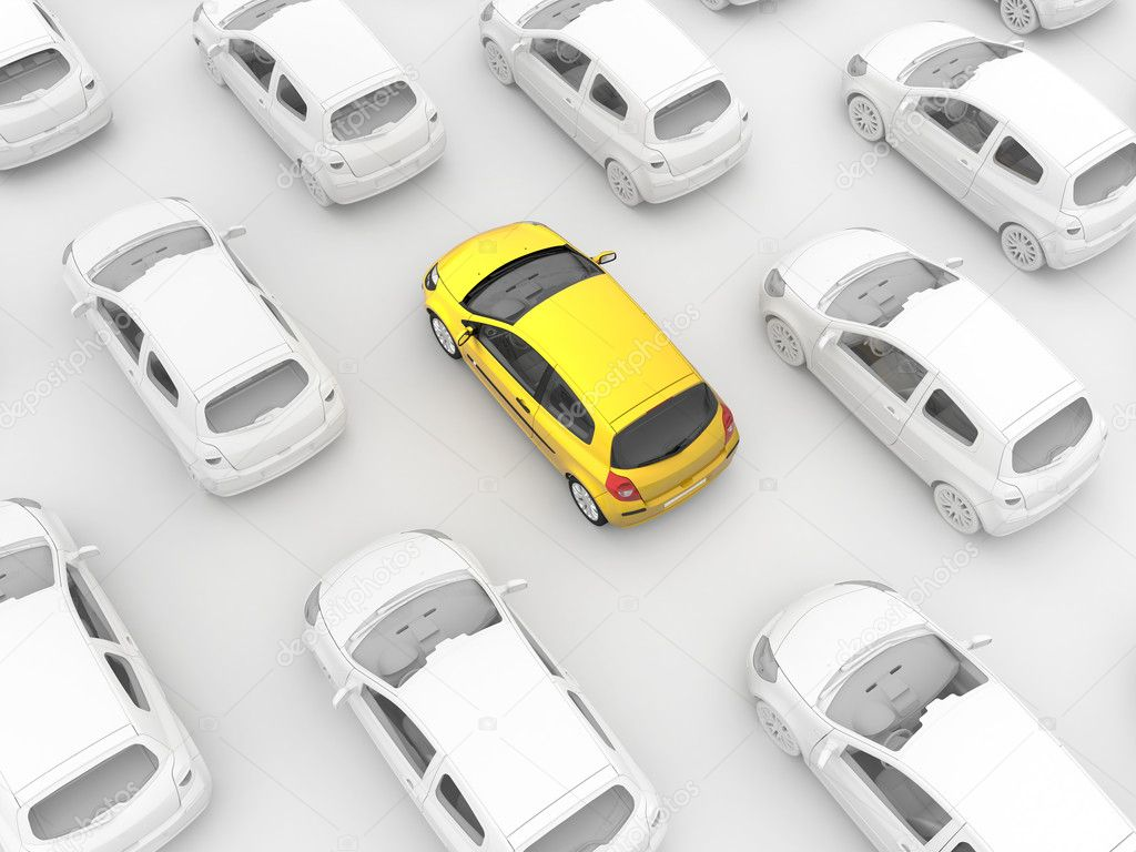 Yellow cab in traffic — Stock Photo #10576055