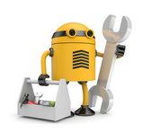 Robot worker — Stock Photo