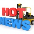 Hot news - Stock Photo