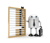 Robot with abacus — Stock Photo