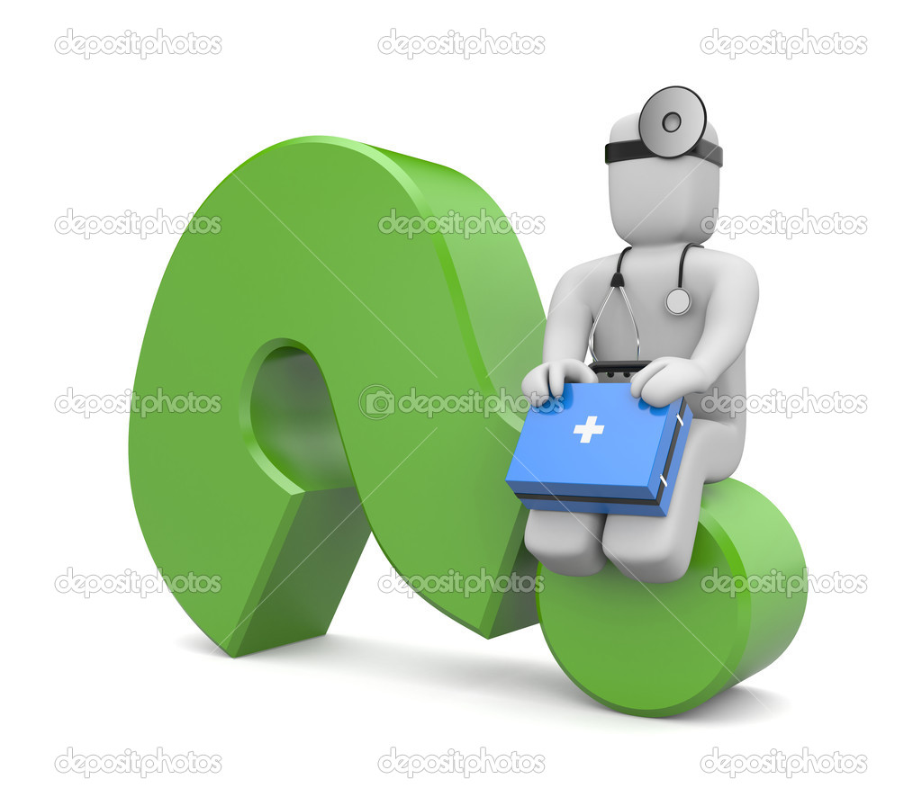 Medical question stock image