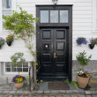 Door in Norway. Stavanger old town - Stockfoto