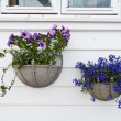 Decoration of Norwegian homes. Stavanger old town - Stock Photo