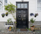 Door in Norway. Stavanger old town — Stok fotoğraf