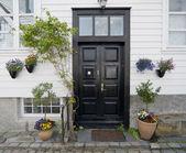 Norveç'te kapı. stavanger kent — Stok fotoğraf