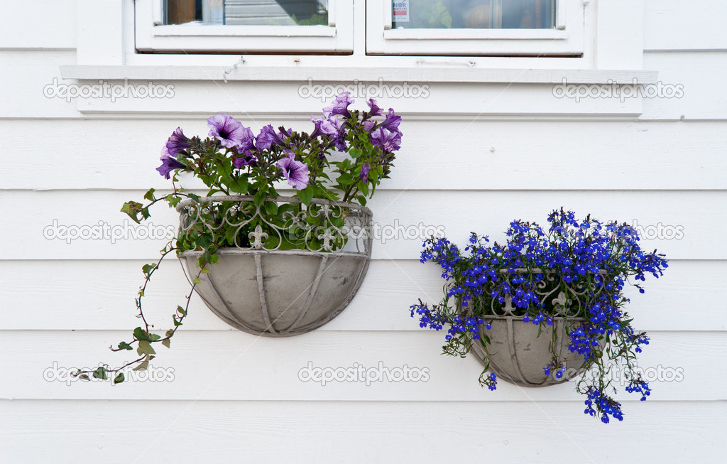 Decoration of Norwegian homes. Stavanger old town — Stock Photo #9062987