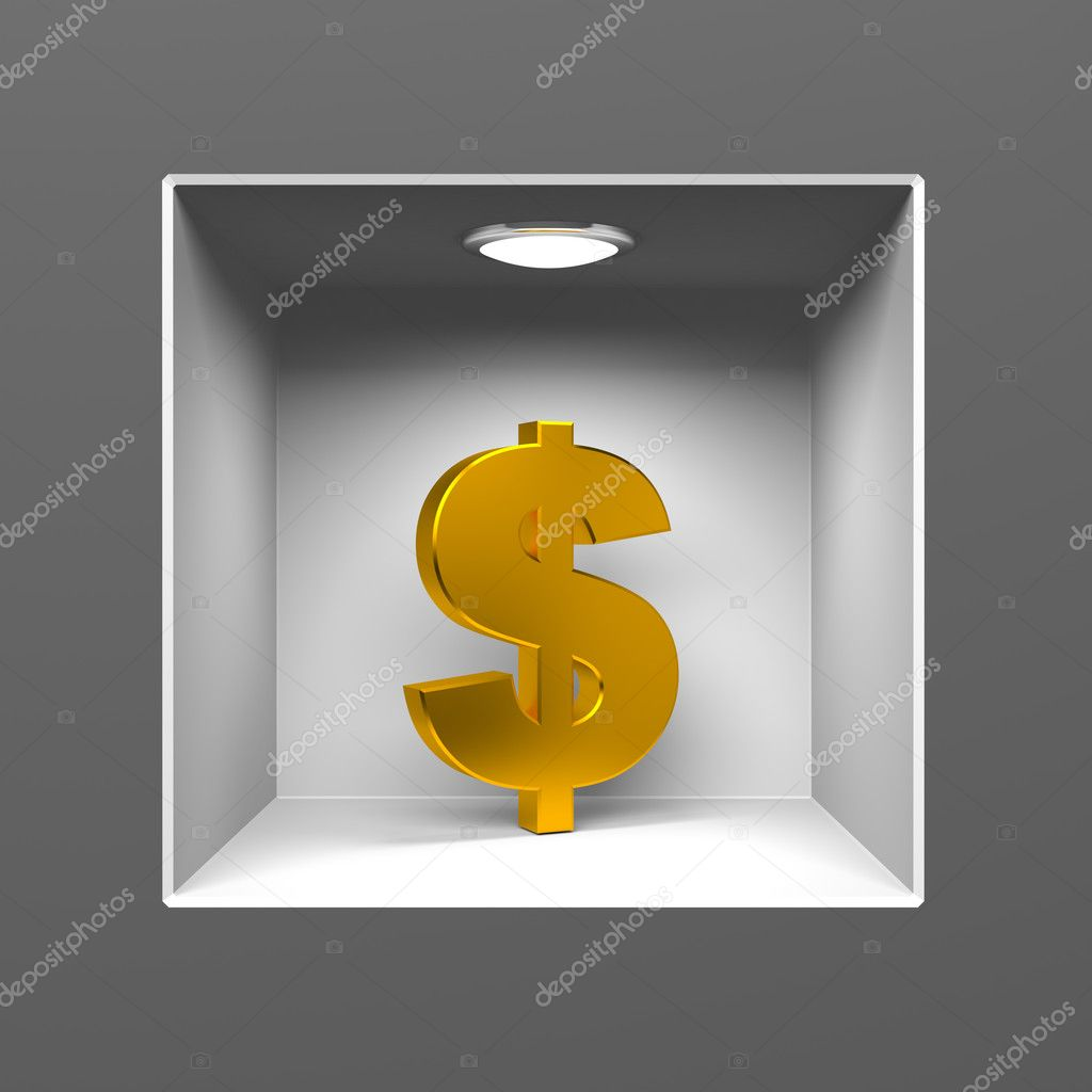 Finance metaphor. Conceptual 3d image  Stock Photo #9063014