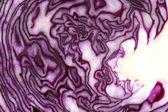 Rohe geschnittene rotkraut muster und textur — Stockfoto
