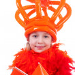 Stock Photo: Girl with big orange crown