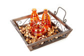 Tray with vases — Stock Photo