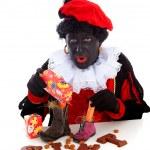 Sinterklaas, typical Dutch event with zwarte piet — Stock Photo #7970133
