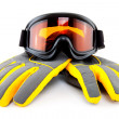 Ski goggles and gloves — Stock Photo #8039044