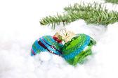 Colorful glitter Christmas balls — Stock Photo