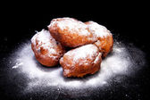 Pile of Dutch donut also known as oliebollen — Stock Photo