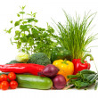 Stock Photo: Bunch of fresh vegetables
