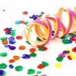 Stock Photo: Colorful confetti and party streamer