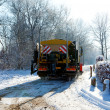 Dutch snow gritter — Stock Photo