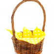 Empty cane basket — Stock Photo