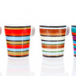 four colorful coffee cups — Stock Photo