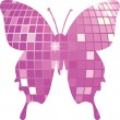 Disco butterfly vector — Stock Vector